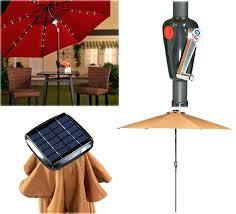 Patio Umbrella String Lights Patio Umbrella String Lights Led For Outdoor More Garden Magic