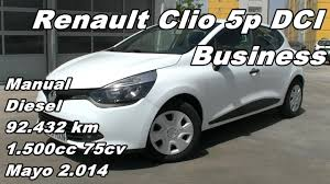 renault clio 5p dci business manual diesel 92 432km 75cv en
