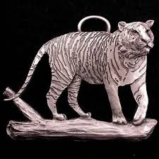 tiger ornament pewter schumann