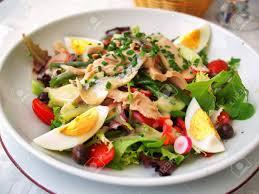 restaurant cuisine nicoise nicoise salad served in a restaurant in cannes horizontal
