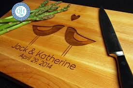 personalized cutting board wedding personalized cutting board boos wedding birds the