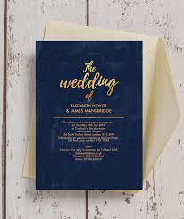 navy wedding invitations navy gold wedding invitation from 1 00 each