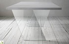 tavoli design cristallo tavolo design con gambe in vetro fliam arredo design