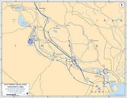 Map Iraq Map Of Iraq March 2003
