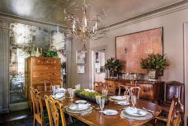 Transitional Home Transitional Dining Room Charlotte An Artful Charlotte Update Southern Home Magazine