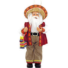 cheap and discounted 9 mexican santa ornament from christma