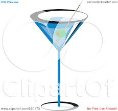 martini olive vector royalty free rf clipart illustration of an olive garnish in a