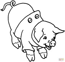 laughing pig coloring free printable coloring pages