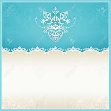 wedding invitation designer blue wedding invitation design template with doves hearts