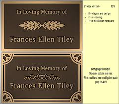 bronze memorial plaques metal bronze plaques for memorials and veteran plaques