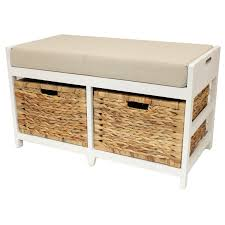 Bathroom Bench Seat Storage Bathroom Stylish Seminole Wood Storage Bench Waterfront