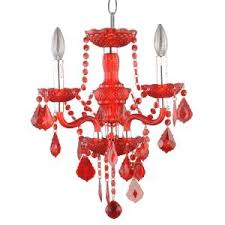 Maria Theresa 6 Light Crystal Chandelier Hampton Bay 6 Light Maria Theresa Chrome Red Acrylic Chandelier