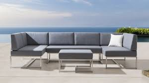 Stainless Steel Patio Table Neverland Modular Sofa Set Light Grey Patio Furniture Outdoor
