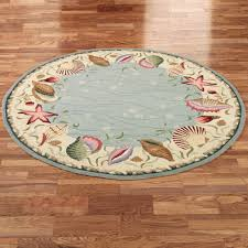 Pier One Round Rugs by Ocean Surprise Coastal Seashell Area Rugs Blue Ivory Ocean And