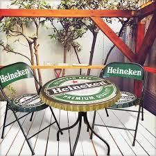 garage table and chairs lavieen rakuten global market heineken bottled cap chair