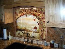 Wine And Roses Tile Mural Kitchen Backsplash Custom Tile Art - Custom backsplash
