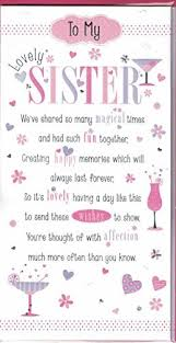 birthday card for sister amazon co uk