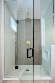Gold Shower Doors Gold Shower Contemporary Bathroom Design
