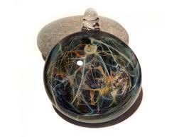 art glass necklace pendant images Glass pendant magical earth pendant glass art glass universe jpg