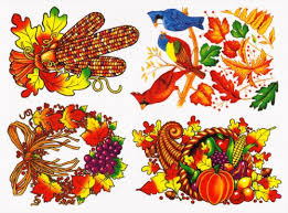 thanksgiving and fall leaves window clings decals