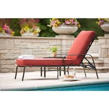 Lay Flat Lounge Chair Hampton Bay Middletown Patio Chaise Lounge With Chili Cushions