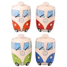 camper van ceramic cookie jar biscuit barrel splittie car retro
