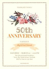 50th wedding anniversary invitations 50th wedding anniversary invitation template fotojet