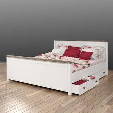 Schlafzimmer Betten Mit Schubladen Bett Levitana In Weiß Mit Zwei Schubladen Pharao24 De