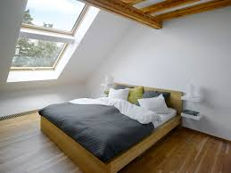 bedroom simple interior attic bedroom design with white wooden