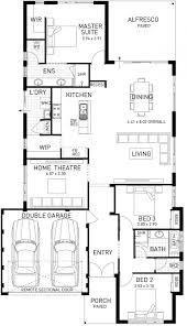 Open Plan Floor Plans Australia by The Avalon Three Bed Single Storey Home Design Domain By Plunkett
