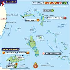 bahamas on map bahamas golf map with top golf courses and resorts