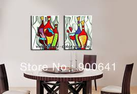 Wall Pictures For Dining Room Framed Painting Dining Room Modern Canvas Painted In