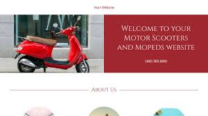 motor website motor scooters and mopeds website templates godaddy