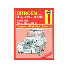 haynes manual citroen 2cv ami dyane 425 435 602cc petrol 67 90 up