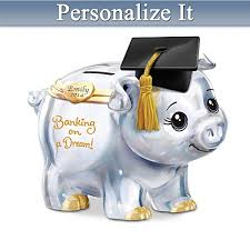 graduation piggy bank 102 best pig collectables images on pigs