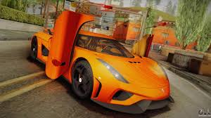 koenigsegg cc8s orange koenigsegg for gta san andreas