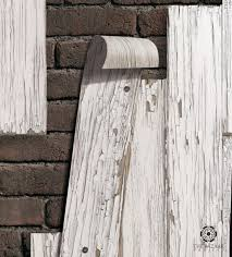 vintage white wood planks wallpaper
