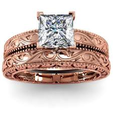 Rose Gold Wedding Ring Sets by Rose Gold Engagement Rings Sets 338 Andino Jewellery