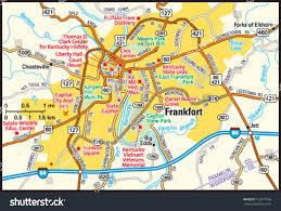 kentucky house map frankfort kentucky area map stock vector 163577036