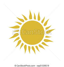 yellow simple sun with rays vector icon vector clip search