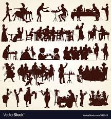 Free Silhouette Images People Silhouettes Eating Dining Royalty Free Vector Image
