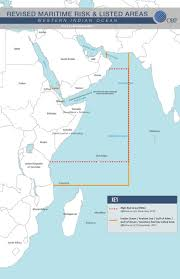 Indian Ocean Map Joint War Risk Committee Revises Indian Ocean Listed Area Asket