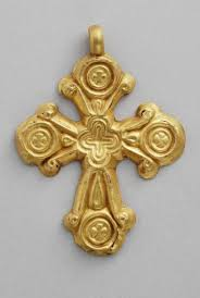 byzantine crosses ancient byzantine gold encolpion in the shape of a cross 6th
