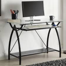 Glass Computer Desk Glass Desks You U0027ll Love Wayfair