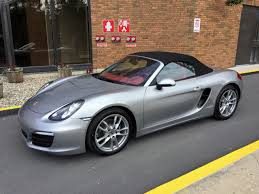 red porsche boxster 2017 2015 boxster gt silver garnet red leather interior black