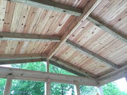 question about what to paint stain screened porch ceiling color