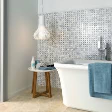 bathroom mosaic tile wall glass geometric pattern