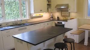 Soapstone Subway Tile Black Soapstone Kitchen With White Subway Tile Backsplash