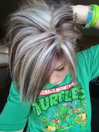 silver hair with blonde lowlights highlights and lowlights jennifer pinterest hair coloring