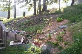 sloped backyard landscaping ideas christmas lights decoration
